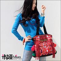 [LYNETTE'S CHINOISERIE - Miya ] 2013 embroidery shoulder bag handbag canvas bag national bags women's handbag