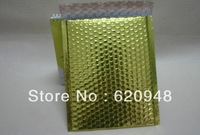 Free shipping  Light Gold aluminum foil bubble envelope mailers 20*25cm,metallic bubble bags