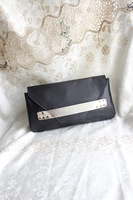 Mng mango 2013 personality rivet decoration day clutch bag with handle banquet bag  Free shipping