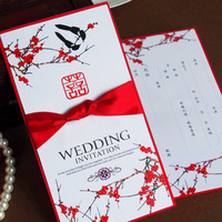 New arrival invitation card wedding invitations red chinese style of , portentously