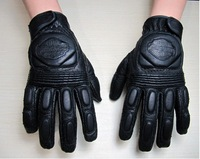 In stock  Motorcycle Racing  leather gloves with hole Glove Motorbike Cycling Biker Bicycle Sports Gloves L XL