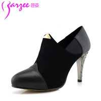 Trend 2013 shoes sheepskin pointed toe platform high-heeled shoes women shoes