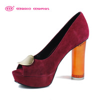 Mariomamas2013 spring and summer platform open toe jelly single shoes crystal ultra high heels women shoes