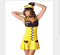 Hot selling Free Shipping 2012 Tina Taxi - Sexy Adult Costume Lingerie Taxi Driver Uniforms