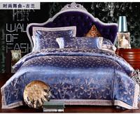 free shipping   Home textile bedding wedding bedding quality jacquard satin tencel piece set