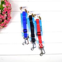 Wholesale Adjustable Car Vehicle Pet Seat Safety Belt Dog Seatbelt Free Shipping 2.0cm 100Pcs/Lot