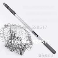 Hot sale durable light Fashion Fishing Folding Landing Net & Extending Pole Handle Fishing Net