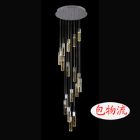 Brief modern crystal rotation stair lamp crystal column pendant light led air bubble crystal pendant lamp bubble lamp