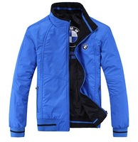 Free Shipping New 2013 Autumn -Summer Men's Casual Double-Sided Wear Outdoor Sport Jackets / Coats Size XL-XXXXL Black/ Blue