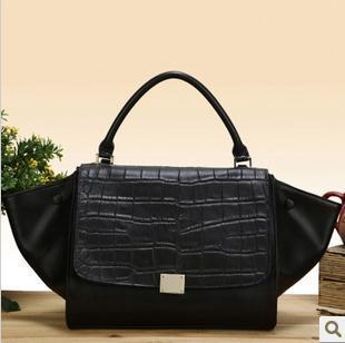 Hot sell  swing bag 2014 smiley bag genuine leather women's handbag fashion shoulder bag  phantom bags