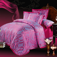 free shipping  Verhoeff limited edition tencel 100% cotton satin jacquard four piece set 100% cotton bedding