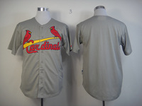 Mix Order St. Louis Cardinals #00 Blank Grey Baseball Jerseys Cool Base Embroidery logos Free Shipping-NF
