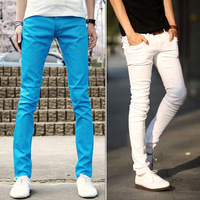 2013 slim casual long trousers personality fashion work wear male
