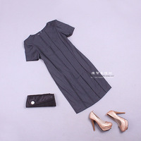 Stella free shipping Fashion solid color 103984 tailored skirt one-piece dress spring and autumn female brief work wear
