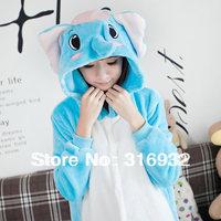 K2 Flannel lounge female animal elephant sleepwear cartoon fleece autumn and winter long-sleeve plus size
