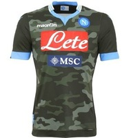 Thai jersey 13-14 Naples football suits camouflage Naples football clothing with short sleeves at home