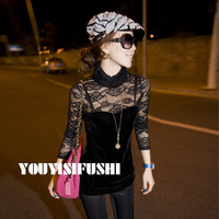 2013 women's top basic shirt t-shirt female sexy turtleneck long-sleeve basic shirt