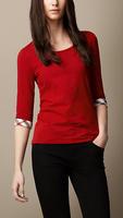Brief 2013 autumn half sleeve female t-shirt slim basic shirt