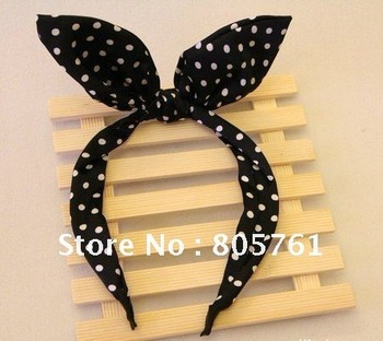 new lastest trend girls headbands women hairband with dot design