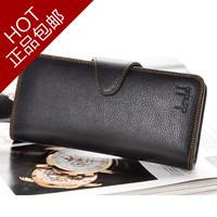 51% OFF Male cowhide wallet Men wallet multi card holder genuine leather wallet hasp long design  FREE SHIPPING