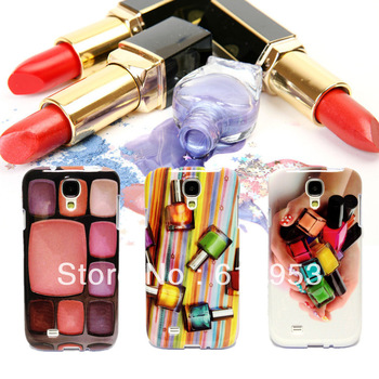 Realistic Design Fashion Stylish Gel Rubber Glossy Soft Nail Polish Pattern TPU  Case Cover for Samsung Galaxy S4 S IV i9500