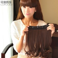 16'', 4 colors, 40pcs/lot, High Temperature synthetic fiber Wigs, clip in Hair Extensions ,wholesale price, SP-009