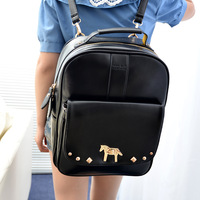 2013 women's handbag student bag school bag lapalette metal double-shoulder back big bag