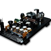 Ceramic tea set electromagnetic furnace solid wood tea tray tea sea purple kung fu tea set