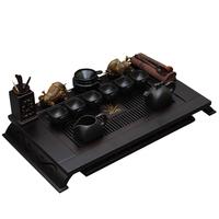 Yixing tea set kung fu tea set teaberries teaports wood ceramic tea set
