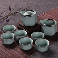 Ceramic tea set ru kung fu tea set