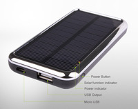 3500 mAh solar mobile  charger for iphone 5 FREE SHIPPING