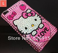 1 pcs/lot New Arrival Cute Hello Kitty Bling Diamond Crystal Rhinestone Case Cover Skin For Nokia Lumia 520