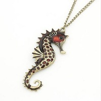 The order of at least $10(mixed order) A149 lovely fashionable sea horse pendant necklaces wholesale  free shipping!!