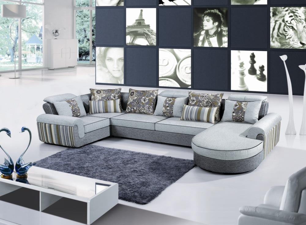 Wyatt mita furniture living room sofa combination of silk for V shaped living room