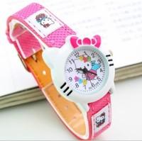 New Designer Brand Hello Kitty Cartoon Watch, Fashion Children's Girls Boys Kids Students Wrist Watch Hours