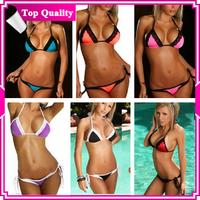 DYYY-0316 2013 New arrival Lady Sexy Bikini Pink Color White Dot Halter Swimwear, wholesale Women Swimsuit Set