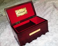 Lilium Elfen Lied original wooden music box /Lilium music box, 18 edition, solid wood, rectangular,