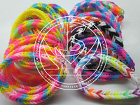 Silicone loom bands with silicone diy bands,colorful Rainbow loom rubber band bracelets
