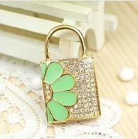 jewelry usb drive gift diamond necklace pen drive 8gb 16gb 32gb pen drive flash Lock keychain lock usb pendrive memory stick
