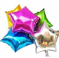 Best price 18 five-pointed star aluminum balloon aluminum foil balloon decoration balloon aluminum balloon  100pcs