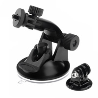 2014 New HOT Suction Cup Mount For GOPRO Go Pro Camera Accessories HD HERO 2 / 3 + Tripod Adapter + Screw + Nut  Drop Shipping