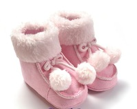 pink baby boot cute ball  winter boot casual shoes baby pram shoes first walker prewalker shoes retail