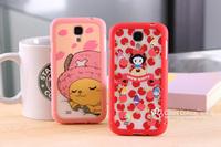 For samsung s4 scrub i9500 4 mobile phone protective case leopard print everta
