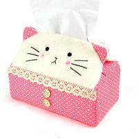 Cartoon cat tissue paper tissue box
