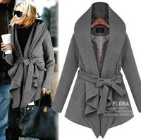 free shipping Mushroom women's 2013 spring with a hood lacing overcoat trench