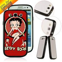 Customized Cartoon Designer Case hard back cover for Samsung Galaxy S3 SIII I9300 betty boop ZC1081 Free ship