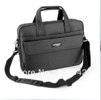 Free shipping 15 inch men's briefcase single shoulder bag Messenger bag with three dark gray oxford business business bags