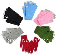 DHL Freeshipping Knit Wool Touch Gloves for iPhone 5 5G 4 4S Touch Screen Gloves for iPad 1 2 3 4 Mini, 300pcs(150pairs)/lot