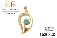 Fashion jewelry,18K gold plated charm turquoise stone pendant Free Shipping/Great Gift 1620328 whole sale