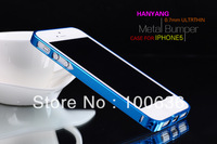 for Aluminium Bumper Case Cover for iPhone 5 5g cases Metal Frame free screen protector